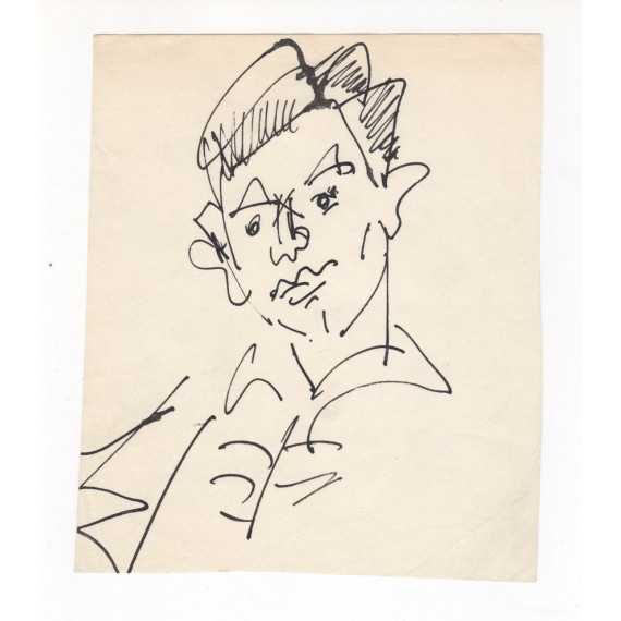 Drawing - Portrait of a young man