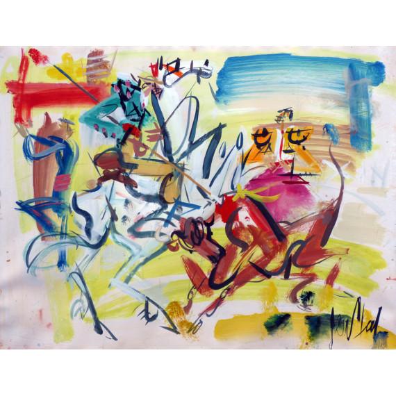 Gouache painting : The picador