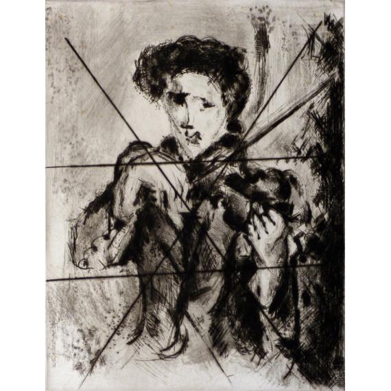 Gravure : Le Violoniste ( Épreuve barrée )