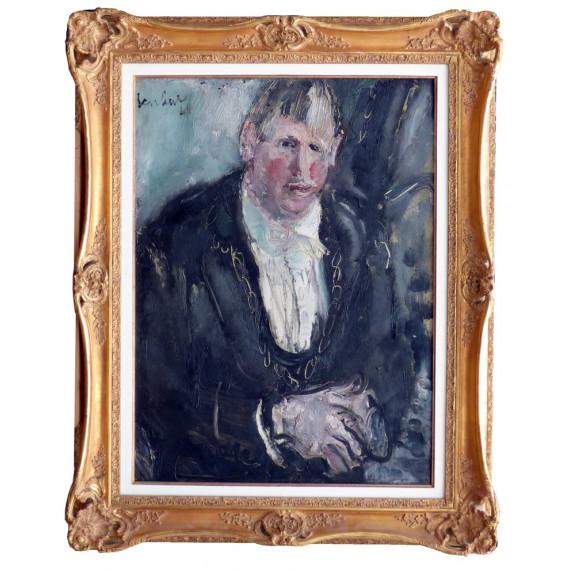 Peinture : Portrait d'un comédien de l'Ambigu par Gen Paul