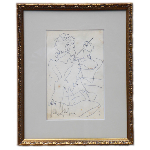 "Dessin : Le fils de Gen Paul ""Gen"" dessinant, 1956"
