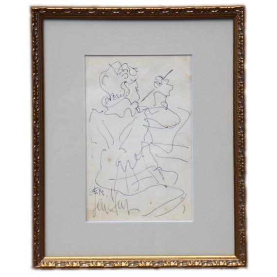 """Drawing : Gen Paul's son """"Gen"""" 1956"""