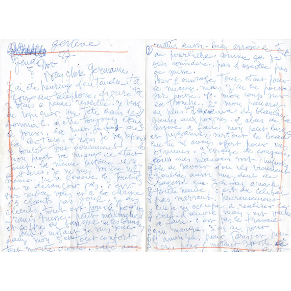 LETTER - A long letter Gen Paul is not felling good.