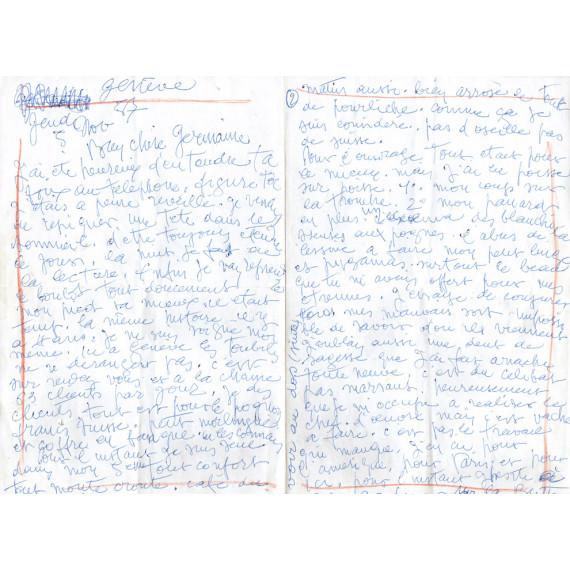 LETTRE - Grande lettre Gen Paul ne va pas bien.