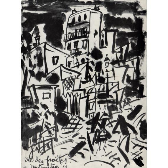 Lettre - Rue des Poètes Montmartre 1963