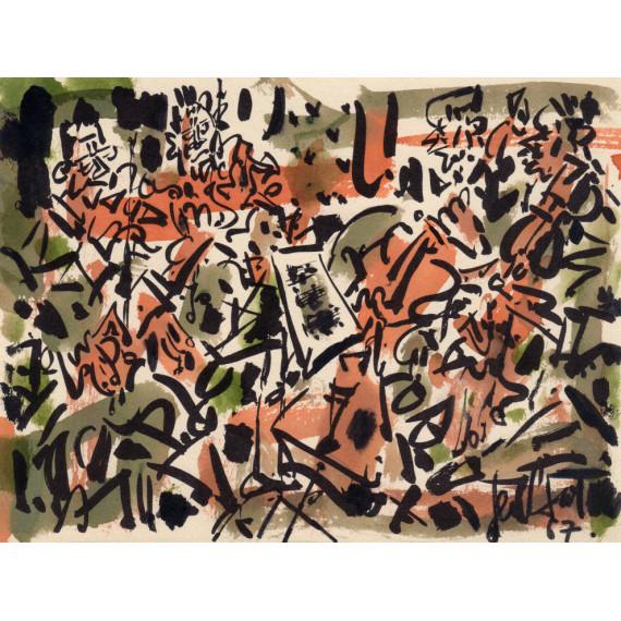 Letter and Jacomet stencil enhanced - The Quartet