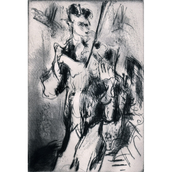 Etching - The Virtuoso - The Violinist