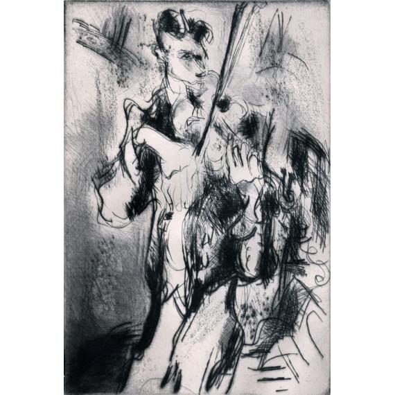 Gravure - Le Virtuose - Le violoniste