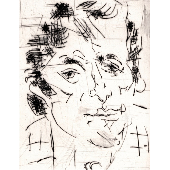 Etching - Portrait of a man