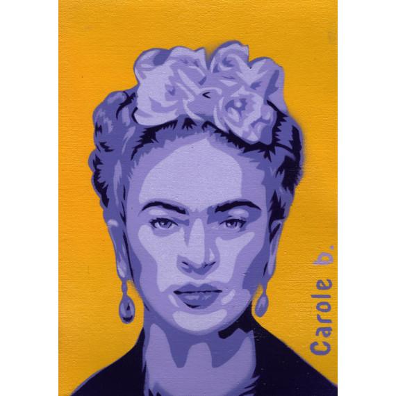 Frida ! Pochoir unique