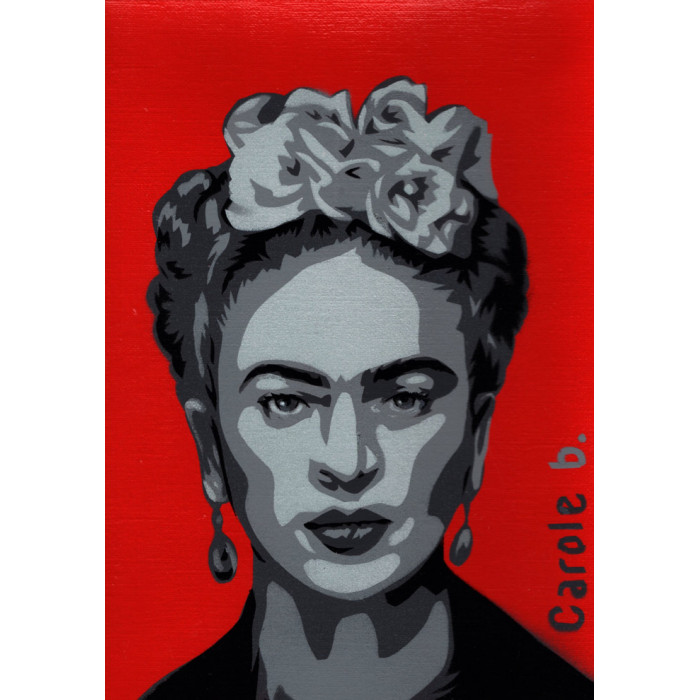 Frida ! Pochoir unique