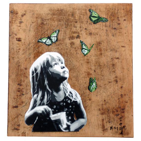 Polar Bear - Kid and butterflies