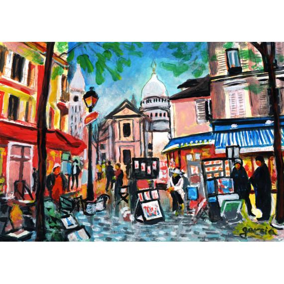 Peinture, La Place du Tertre à Montmartre