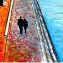 Peinture, La ballade sur les Quais de Seine à Paris