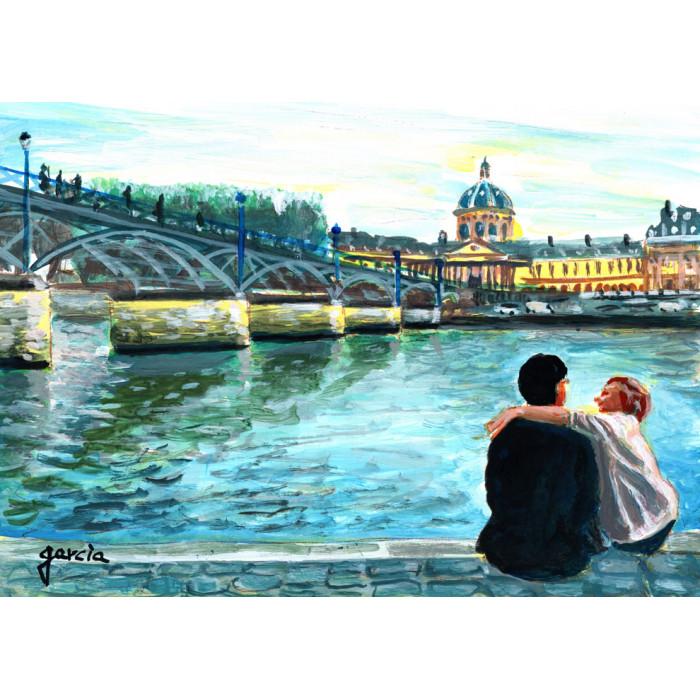 Peinture, Détente au bord de l'eau
