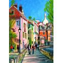 Peinture, Une ballade rue de l'Abreuvoir à Montmartre