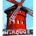 Peinture, féérie au Moulin Rouge