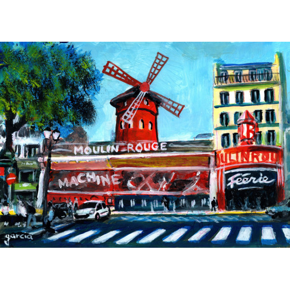 Painting, magic at the Moulin Rouge