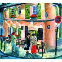 Peinture, La Maison Rose à Montmartre