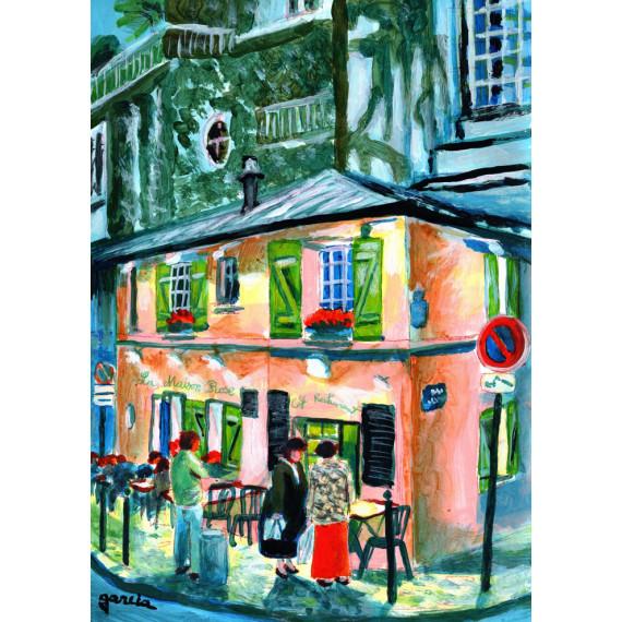 Painting, La Maison Rose in Montmartre