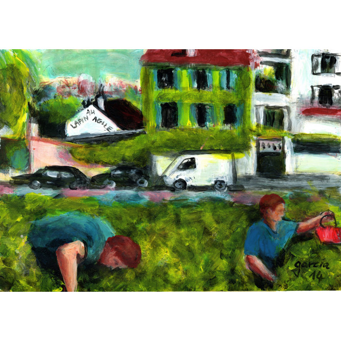 Peinture, Les vignes de Montmartre,la cueillette du vin