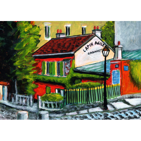 Painting, The Old Cabaret des Assassins in Montmartre