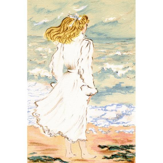 Claude Montoya - La jeune femme qui regarde la mer