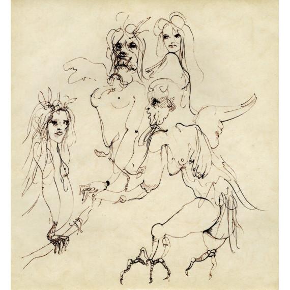 Leonor FINI - Surrealist engraving