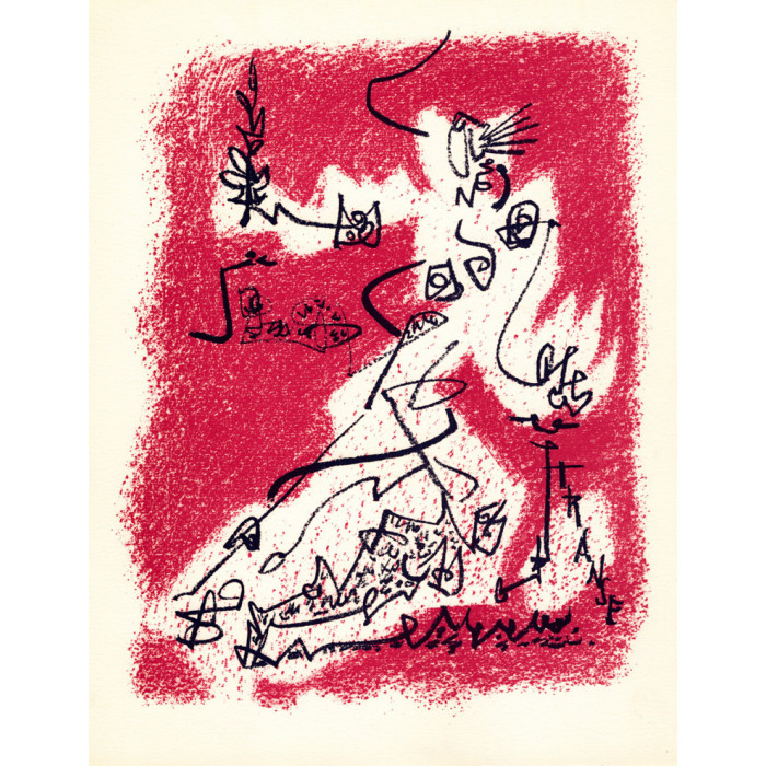 André Masson - Lithographie - Le Départ