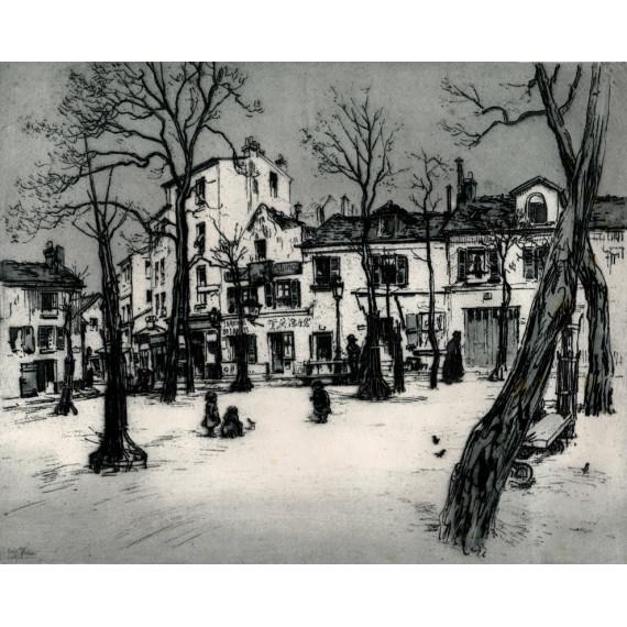 Eugène Veder - La Place du Tertre à Montmartre