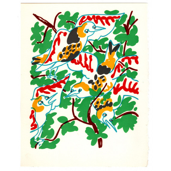 Charles LAPICQUE - Lithograph - The birds