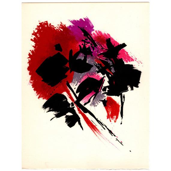 Alfred MANESSIER - Lithographie - La Tâche Rouge, 1972