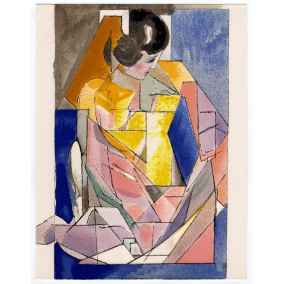 Jacques VILLON - Lithograph - Young Lady