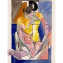 Jacques VILLON - Lithographie - Jeune Femme