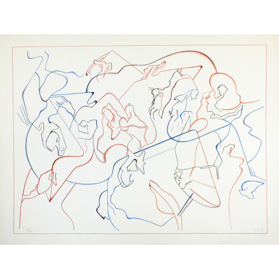 Jan VOSS - Lithographie - Modern Jazz Quartet 1975