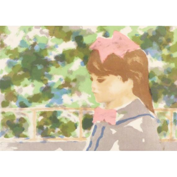 André GISSON - Lithographie - Jeune Fille