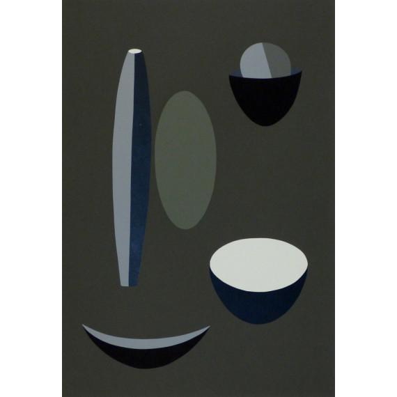Paule VÉZELAY - Lithographie - Image Grise 1935
