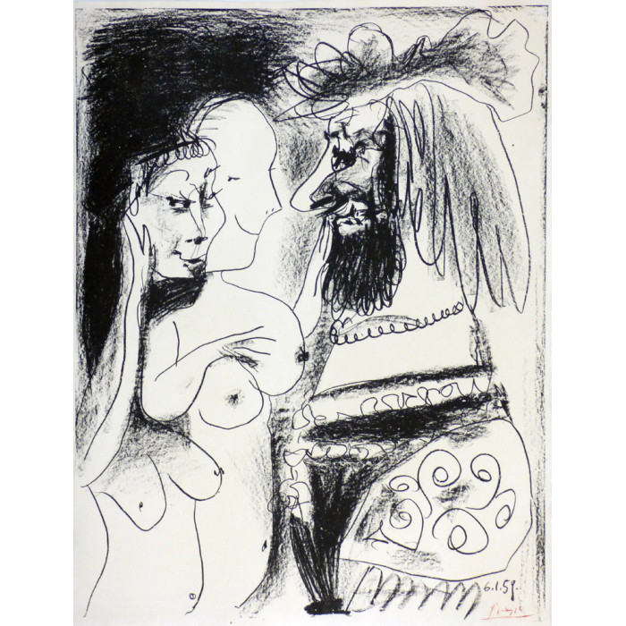 Pablo PICASSO - Lithograph - The King