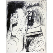Pablo PICASSO - Lithographie - Le  Roi