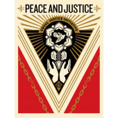 Shepard Fairey - Obey - Peace and Justice 2018