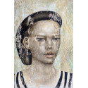 Akelo - Painting - Young man in black cap