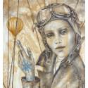 Akelo - Peinture - Aviatrices - Ne jamais perdre le nord
