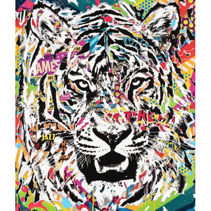 Jo Di Bona - Limited edition - Tiger blue in green