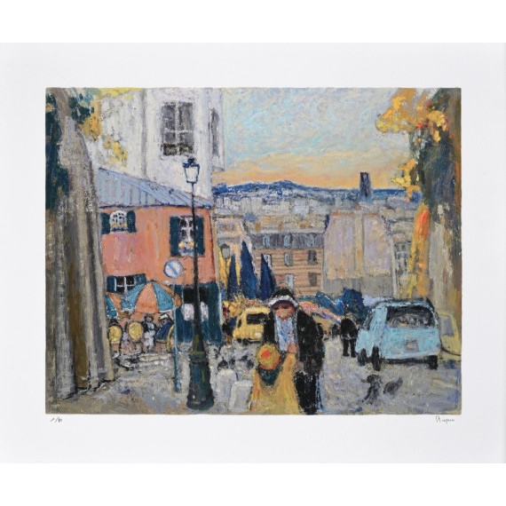 Marko Stupar - Limited Edition - The pink house in Montmartre