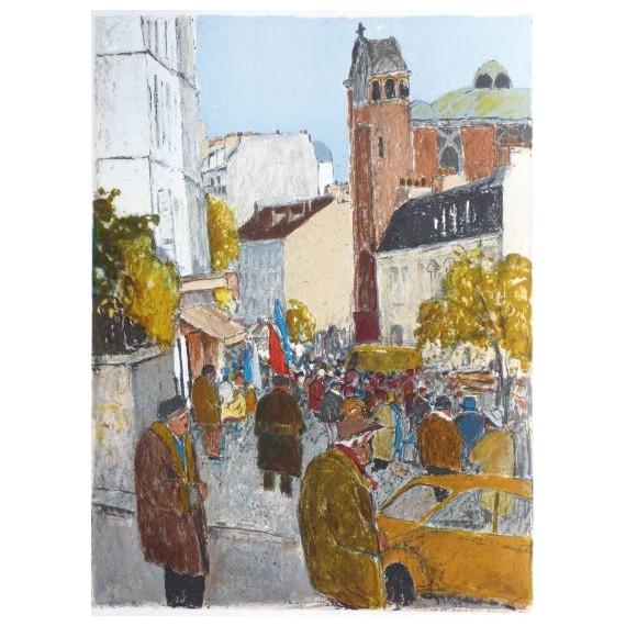 Marko Stupar - Lithographie - Montmartre, Les Abbesses