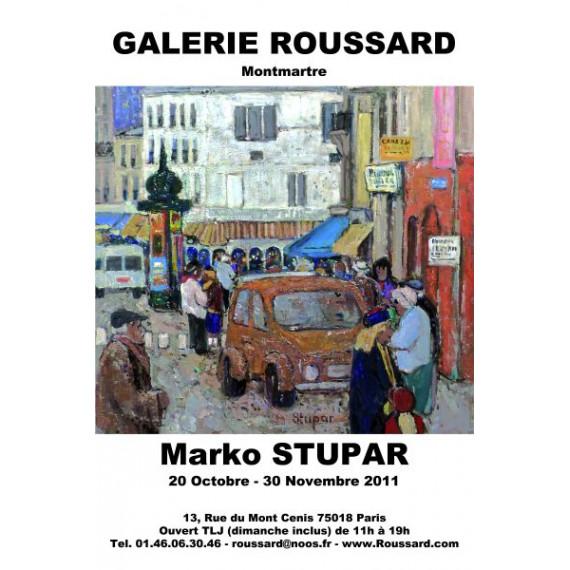 Marko Stupar - Galerie Roussard - La Rue Des Martyrs à Montmartre 2011