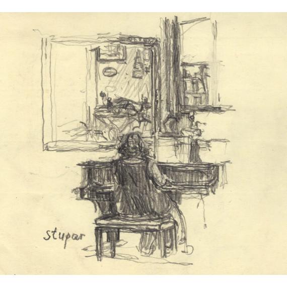 La femme de l'artiste au Piano