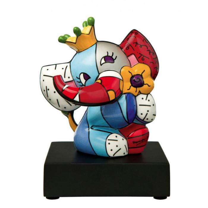 Britto - Sculpture - Le petit éléphant à la couronne