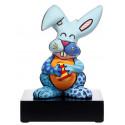 Britto - Sculpture - Le Lapin Bleu