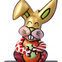 Britto - Sculpture - Le Lapin Orange